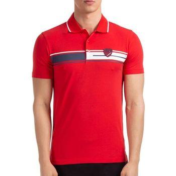 Vêtements Homme Polos manches courtes Emporio Armani EA7 Polo EA7 Emporio Rouge