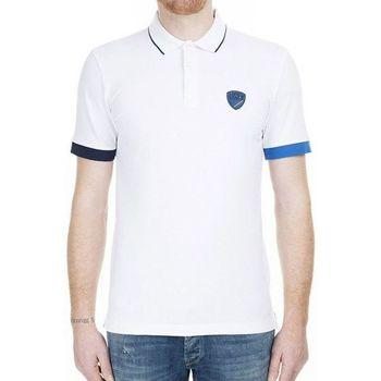 Vêtements Homme Polos manches courtes Emporio Armani EA7 Polo EA7 Emporio Blanc