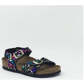 Chaussures Fille Sandales et Nu-pieds Birkenstock BIRK RIO SANDALE FILLE NOIR/MULTI Noir