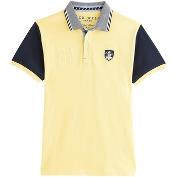 Vêtements Homme Polos manches courtes Black Wellis NAUTICAL HERITAGE Jaune