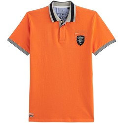 Vêtements Homme Polos manches courtes Black Wellis MOTOR RACING Orange