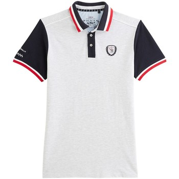 Vêtements Homme Polos manches courtes Black Wellis VICTORY MOTOR RACING Gris chiné