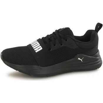 Chaussures Enfant Baskets basses Puma Baskets Wired Run noir
