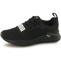 Chaussures Enfant Baskets basses Puma Baskets Wired Run noir