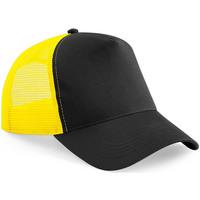 Accessoires textile Casquettes Beechfield Trucker Noir/jaune
