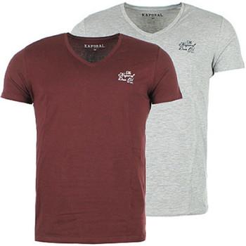 Vêtements Homme T-shirts manches courtes Kaporal Pack de 2 T-Shirts Homme Gift Bordeaux/Gris Multicolore