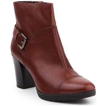 Chaussures Femme Bottines Geox D Raphal Mid A Marron