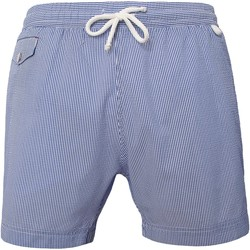Vêtements Homme Maillots / Shorts de bain Les Loulous De La Plage Short de bain homme MONTAUK Tennis Bleu