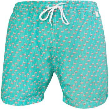 Vêtements Homme Maillots / Shorts de bain Les Loulous De La Plage Short de bain homme MONTAUK Flamingo Bleu