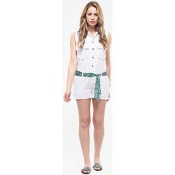 Vêtements Femme Combinaisons / Salopettes Le Temps des Cerises Combi-short paso blanche WHITE