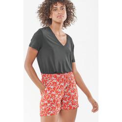Vêtements Femme Shorts / Bermudas Le Temps des Cerises Short klio rouge LIPSTICK