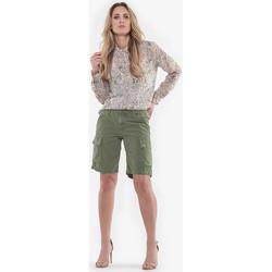 Vêtements Femme Shorts / Bermudas Le Temps des Cerises Short cargo jonhson kaki LIGHT KAKI