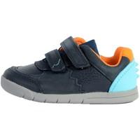 Chaussures Garçon Baskets mode Clarks Basket enfant Rex Quest T Dark Navy Leather