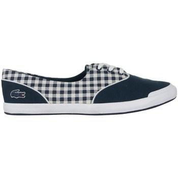 Chaussures Femme Baskets basses Lacoste Lancelle Lace 3 Eye 216 1 Spw Blanc, Bleu marine