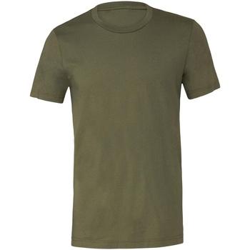 Vêtements T-shirts manches courtes Bella + Canvas Jersey Vert militaire