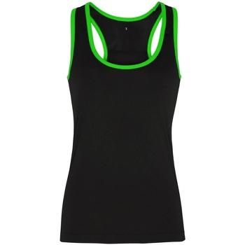 Vêtements Femme Débardeurs / T-shirts sans manche Tridri Panel Noir / vert