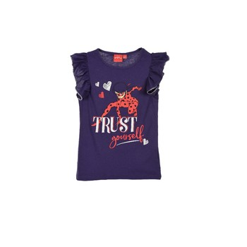 Vêtements Fille T-shirts manches courtes TEAM HEROES  MIRACULOUS LADYBUG Bleu