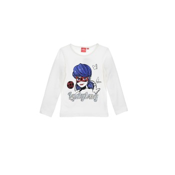 Vêtements Fille T-shirts manches longues TEAM HEROES  MIRACULOUS LADYBUG Blanc