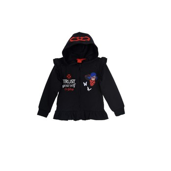 Vêtements Fille Sweats TEAM HEROES  MIRACULOUS LADYBUG SWEAT Noir