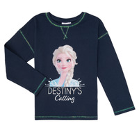Vêtements Fille T-shirts manches longues TEAM HEROES  FROZEN Marine