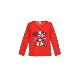 Vêtements Fille T-shirts manches longues TEAM HEROES  MINNIE Rouge