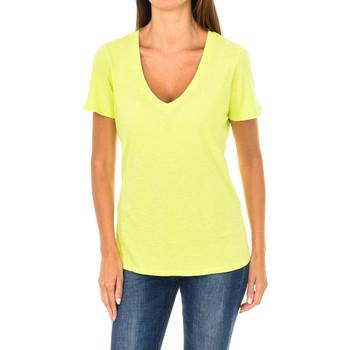 Vêtements Femme T-shirts manches courtes Armani jeans T-shirt à manches courtes Jaune