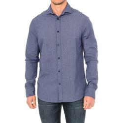 Vêtements Homme Chemises manches longues Armani jeans Chemise à manches longues Bleu
