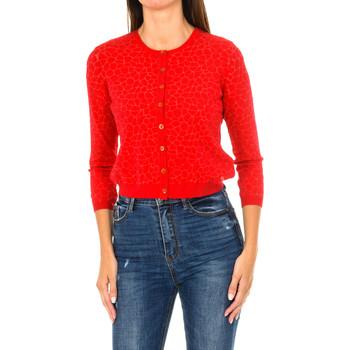 Vêtements Femme Gilets / Cardigans Armani jeans Cardigan Rouge