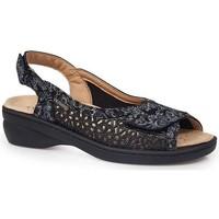 Chaussures Femme Sandales et Nu-pieds Calzamedi SANDALES  JUANETES ELASTICA NOIR