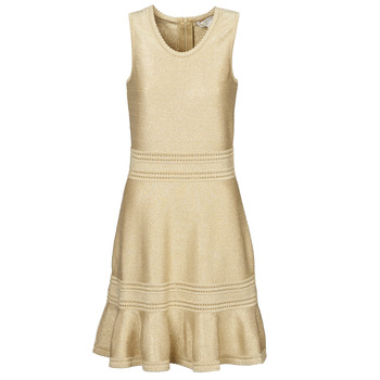 Vêtements Femme Robes courtes MICHAEL Michael Kors FIT FALRE SLVLESS DRS Doré