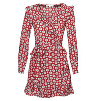 Vêtements Femme Robes courtes MICHAEL Michael Kors LUX PINDOT WRAP DRS Bordeaux