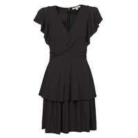Vêtements Femme Robes courtes MICHAEL Michael Kors TWIST RUFFLE DRESS Noir