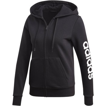 Vêtements Femme Sweats adidas Originals ESSENTIAL LINEAR FELPA ZIP CON CAPPUCCIO NERA Noir