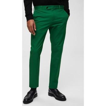 Vêtements Homme Pantalons de costume Kebello Pantalon en polyviscose H Vert Vert