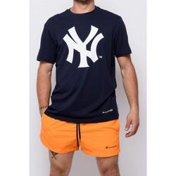 Vêtements Homme T-shirts manches courtes Champion T-shirt à col ras du cou  (214649-bs501) Bleu