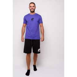Vêtements Homme T-shirts manches courtes Lotto T-shirt  en jersey à demi-manches (ltu012-viola) Violet