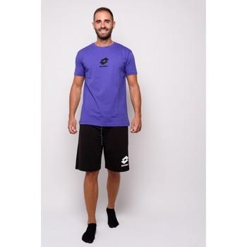 Vêtements Homme T-shirts manches courtes Lotto T-shirt  en jersey à demi-manches (ltu012-orange) Orange
