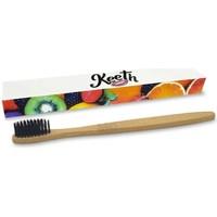 Beauté Soins visage Keeth Brosse à dents en bambou biodégradable infusé de charbon Blanc