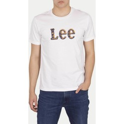 Vêtements Homme T-shirts manches courtes Lee T-shirt  Camo Package Bright White blanc/jaune/bleu