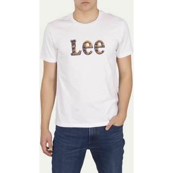 Vêtements Homme T-shirts manches courtes Lee T-shirt  Camo Package Bright White blanc/jaune/bleu