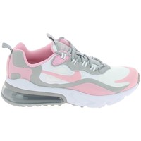 Chaussures Baskets mode Nike Air Max 270 React Jr Blanc Rose BQ0103-104 Blanc