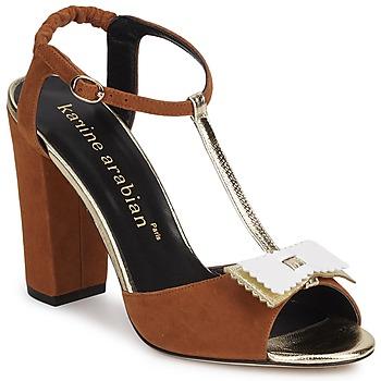 Chaussures Femme Sandales et Nu-pieds Karine Arabian ABBAZIA Sable / Blanc / Or