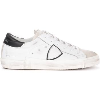 Chaussures Homme Baskets basses Philippe Model Baskets Paris X cuir blanc avec spoiler noir Blanc