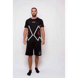 Vêtements Homme T-shirts manches courtes Lotto T-shirt  en jersey à demi-manches (ltu027-noir) Noir