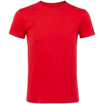 Vêtements Homme T-shirts manches courtes Sols Slim Fit Rouge