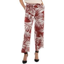 Vêtements Femme Pantalons fluides / Sarouels Only ONLAUGUSTINA CROPPED rouge