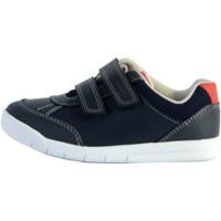 Chaussures Garçon Baskets basses Clarks Basket enfant Emery Sky T Navy Leather
