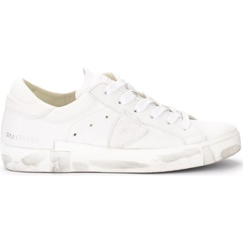 Chaussures Femme Baskets basses Philippe Model Sneaker Paris X in pelle bianca Blanc