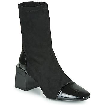 Chaussures Femme Bottines Vanessa Wu BOTTINES CHAUSSETTES À TALON BLOC Noir