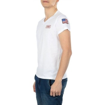 Vêtements Homme T-shirts manches courtes Nasa BASIC FLAG V NECK BLANC